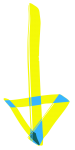 flecha izquierda para móvil